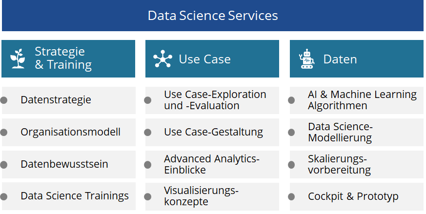 Cognisios Angebot an Data Science Services für Kunden