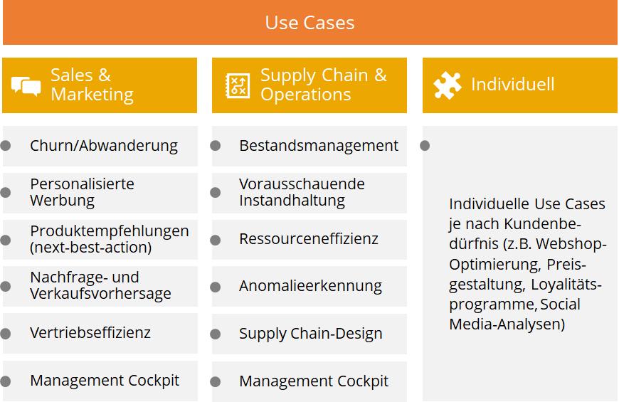 Cognisios Darstellung von Data Science Use Cases